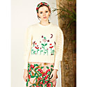 Gloria Embroidered Mohair Jumper image