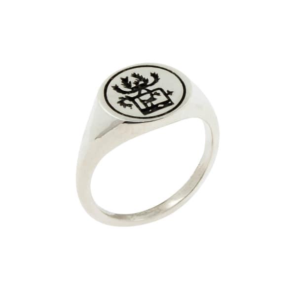 Sami Reindeer Signet Ring – Silver