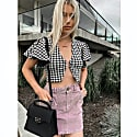 60s Barbie Houndstooth Top image