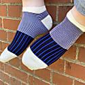 Black Oxford Stripe Crew & Trainer Men'S Socks 2 Pack image