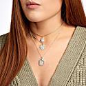 Emerald Cut Cz Diamond Gold Pendant Choker Necklace On Chain image