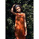 Satin Sleeveless Knee-Length Dress image