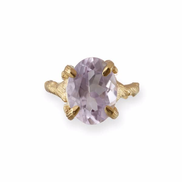 CHUPI Beauty In The Wild Ring in Amethyst & Gold