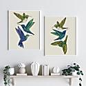 Antique Hummingbirds Iii Cream - Fine Art Print A5 image