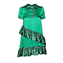 Emerald Short Dress With Ruffles image