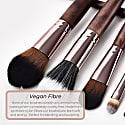 Vegan 3 Piece Eye & Brow Makeup Brush Set image