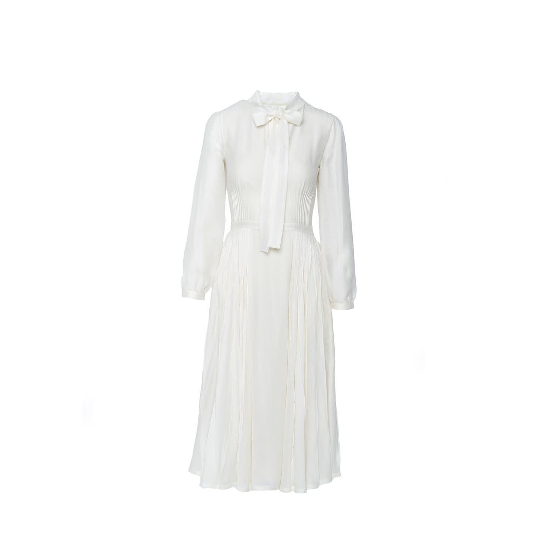 Pearl White Silk Dress | Shopyte | Wolf & Badger