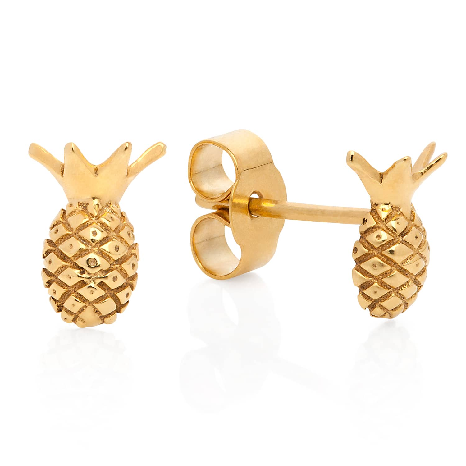 pinapple gold earrings bubbles gift ears shoppe products pineapple stud