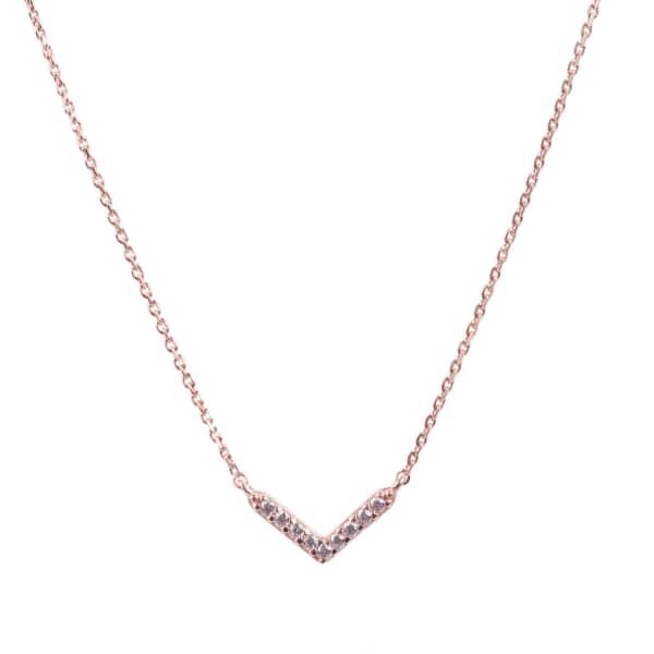 LATELITA LONDON Small Chevron Arrow Necklace Rosegold