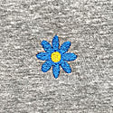 Daisy Embroidered T-Shirt Grey image