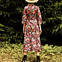 Benito Midi Dress Floral Print with Pussycat Bow image
