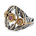 Flower Bomb Tourmaline Diamond Ring image