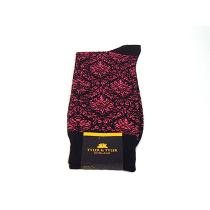TYLER & TYLER Ambrose Pink & Black Socks