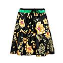 Boho Floral Print Mini Skirt, Elastic Waist Tiered Ruffle Summer Skirt . image