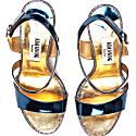 Metallic Effect Timeless Classic Sandals Blue image