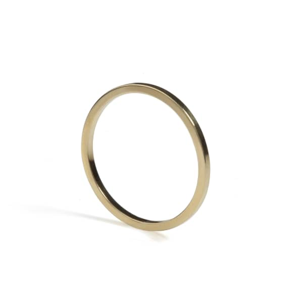 Gold Skinny Square Stacking Ring