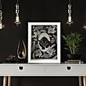 Elemental Panther Print Black & White image