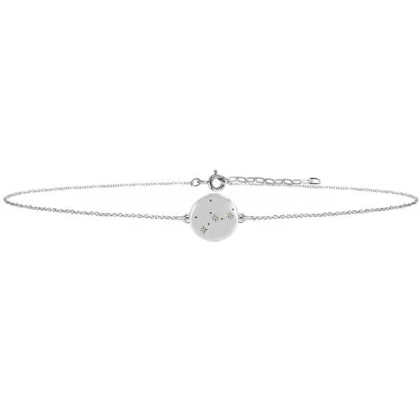 Virgo Zodiac Constellation Choker Diamonds & Silver