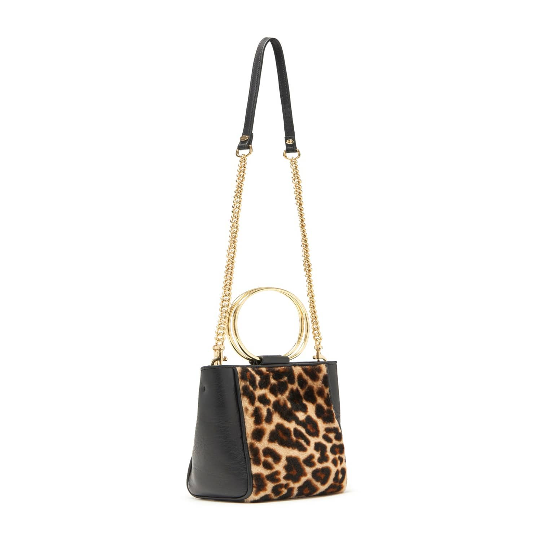 Le Bucket Mini In Black   Leopard Shearling image c8d10e24d90ff