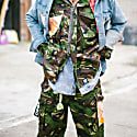 Camo Army Trousers - Gold Katana image