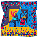 Barcelona Silk Scarf - 140 x 140 cm image