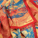 The Bright Yellow Dragonfly Silk Scarf image