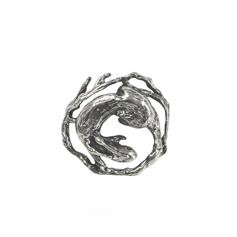 Tree Rabbit Tie Pin by Candice Tripp