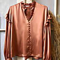 Isabelle Silk Blouse Antique Pink image