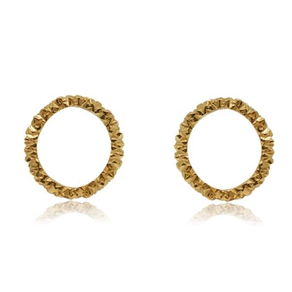 Karolina Bik Jewellery Mordor Round Earrings Gold