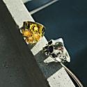 Disfigured Medius Skull Ring In Gold image