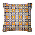 Rubik Silk Cushion Yellow Grey  image