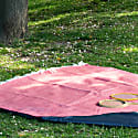 Pure New Wool Waterproof Picnic Blanket Soft Cranberry Red image