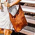 Leather Dixie Boho Tote Bag Shoulder/Across Body Handbag In Vintage Brown image