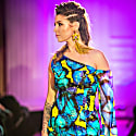 Luxury Dress Blue Butterfly image