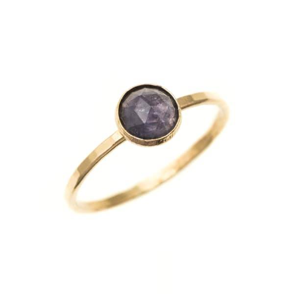 FEATHER+STONE Gold Iolite Ring
