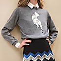 Tiger Embroidered Pullover image