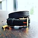 Illusionist Leather & Gold Wrap Bracelet - Men image