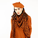 Kitty Large Leopard Print Cashmere Scarf In Brown image