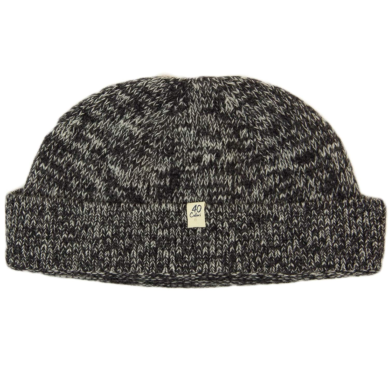 61a3a14ac27eff Charcoal Melange Wool & Cashmere Fisherman Beanie | 40 Colori | Wolf ...