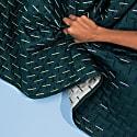 Modern Kantha Single Blanket - Teal image