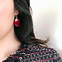 Grande Amore Rose Petal Huggie Hoop Earrings image