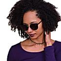 Harbour 'Catwalk' - Classic Round Sunglasses in Black image