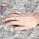 Gold Petal Ring With Moonstone image