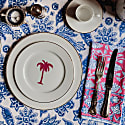 Palm Tree Dinner Plate With Gold Rim image