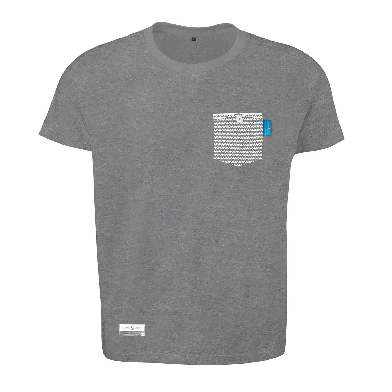 Athletic Grey Marker Print Organic Cotton T-Shirt (M