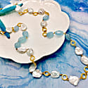 Aquamarines And Freshwater Pearls Multi-Way Long Necklace image