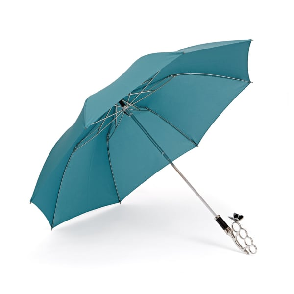 GIZELLE RENEE The Nirvana Compact Turquoise Umbrella