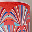 Coral Shell Velvet Lampshade image