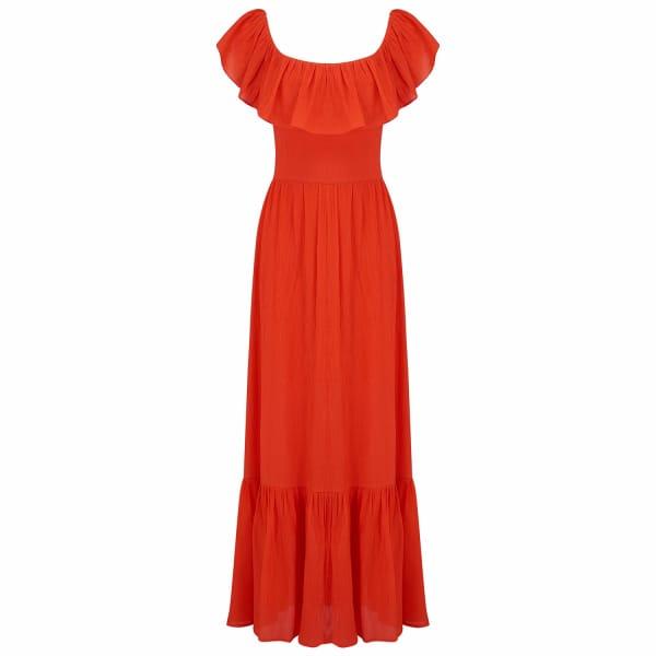RADISH Gracie Dress in Red
