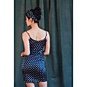 Lulu Silk Cami Dress In Prussian Blue image